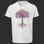 تی شرت زیست شناسی طرح درخت زندگی -2
