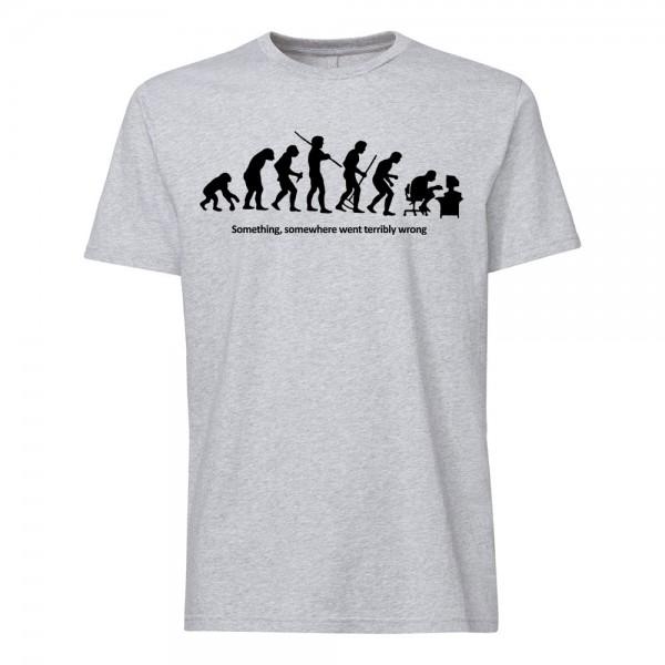 تی شرت طرح Something, somewhere went terribly wrong