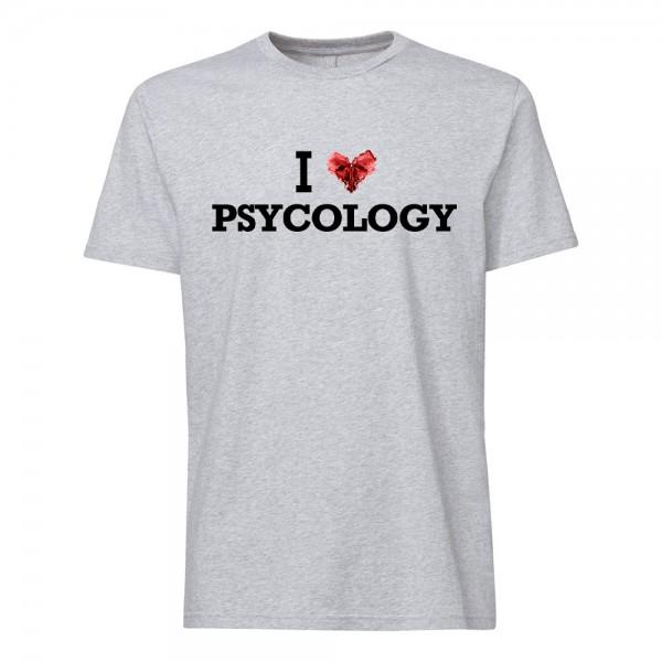 تی شرت طرح I Love Psycology -1