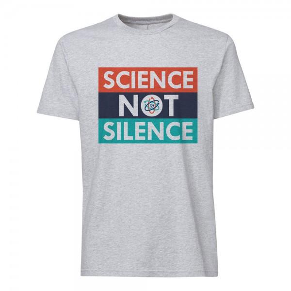 تی شرت  طرح Science not Silence