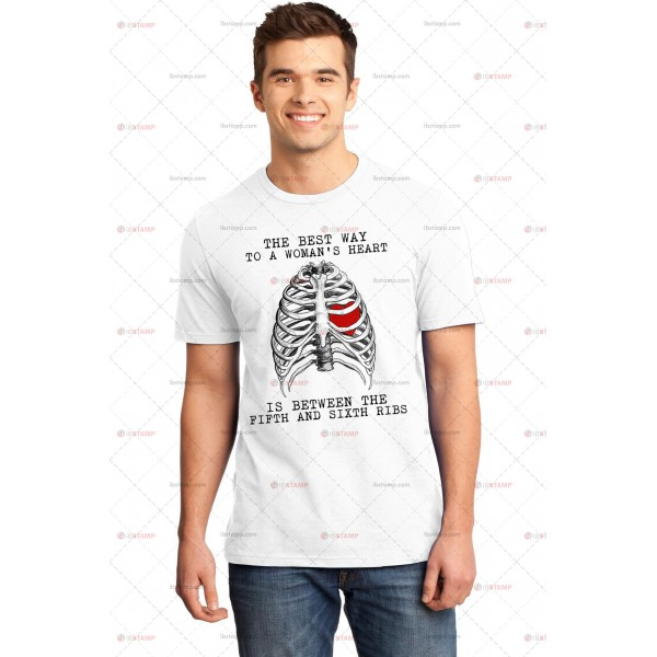تی شرت طرح Best Way to a Woman's Heart
