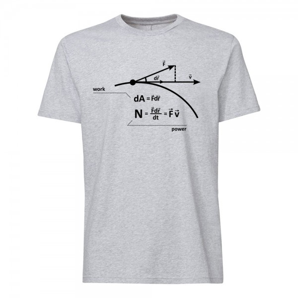 تی شرت فیزیک طرح  Power- Work- Physics