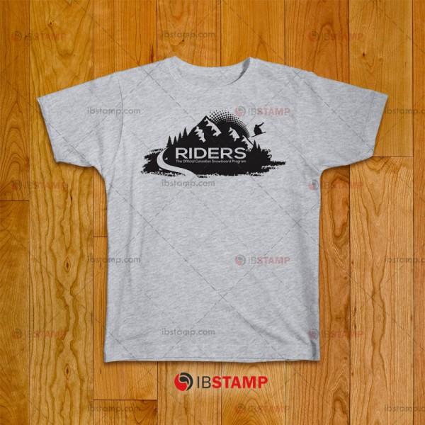 تی شرت طرح انجمن اسنوبورد Riders