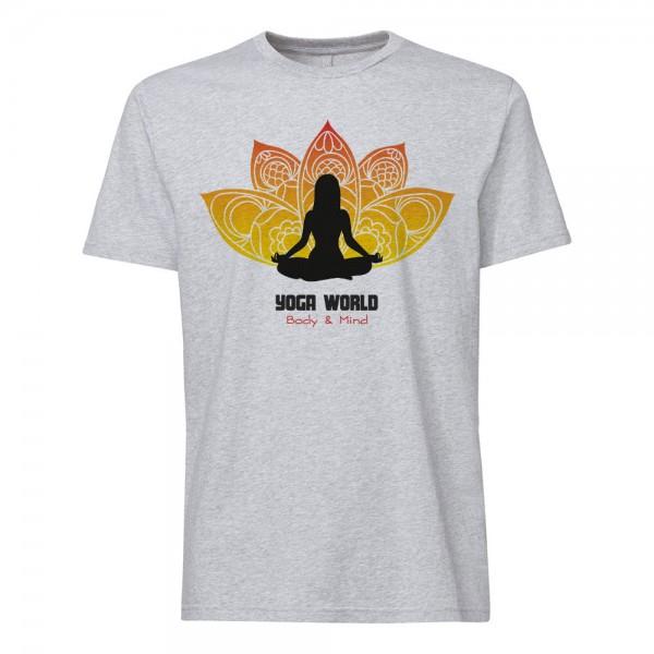 تی شرت طرح Yoga World