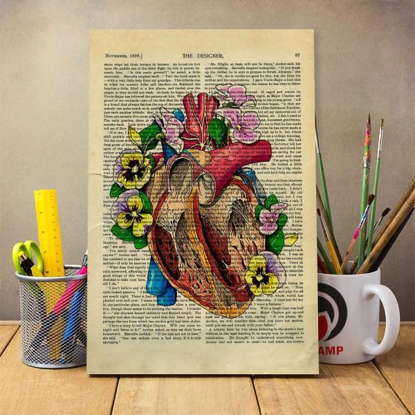 شاسی عکس هنرآناتومی طرح قلب کد 0006
